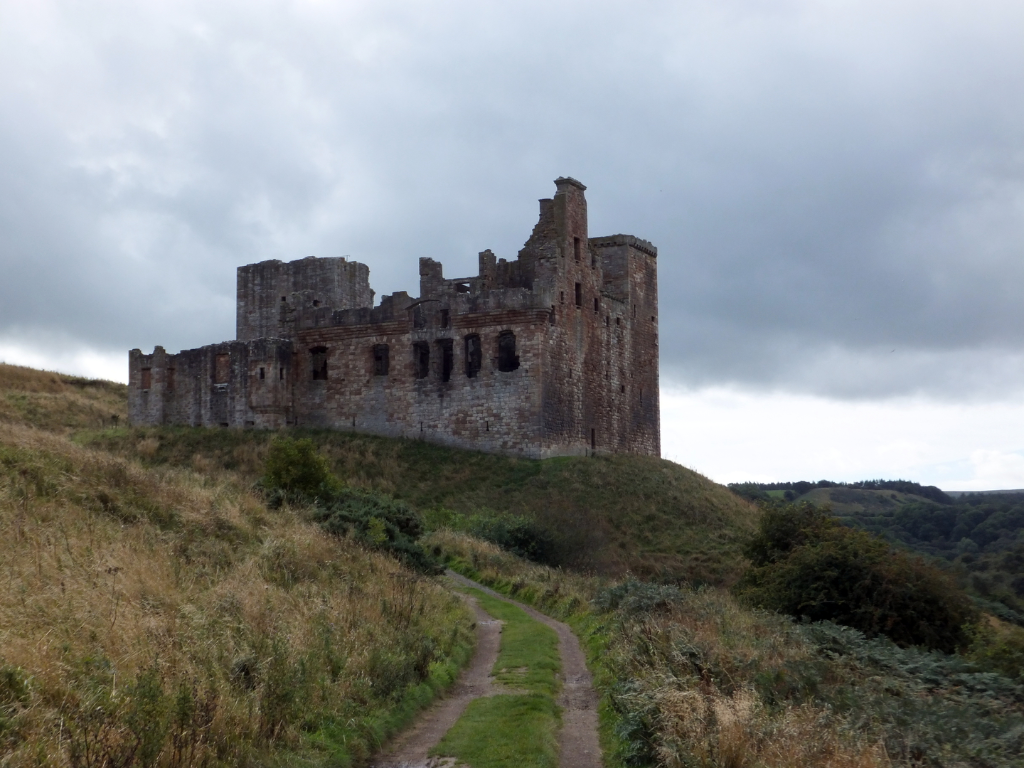 Crichton Castle, a fabulous ruined medieval castle in a pretty spot above the River Tyne, held by the Crichtons, Hepburn and Stewart Earls of Bothwell, near to Pathhead and Edinburgh