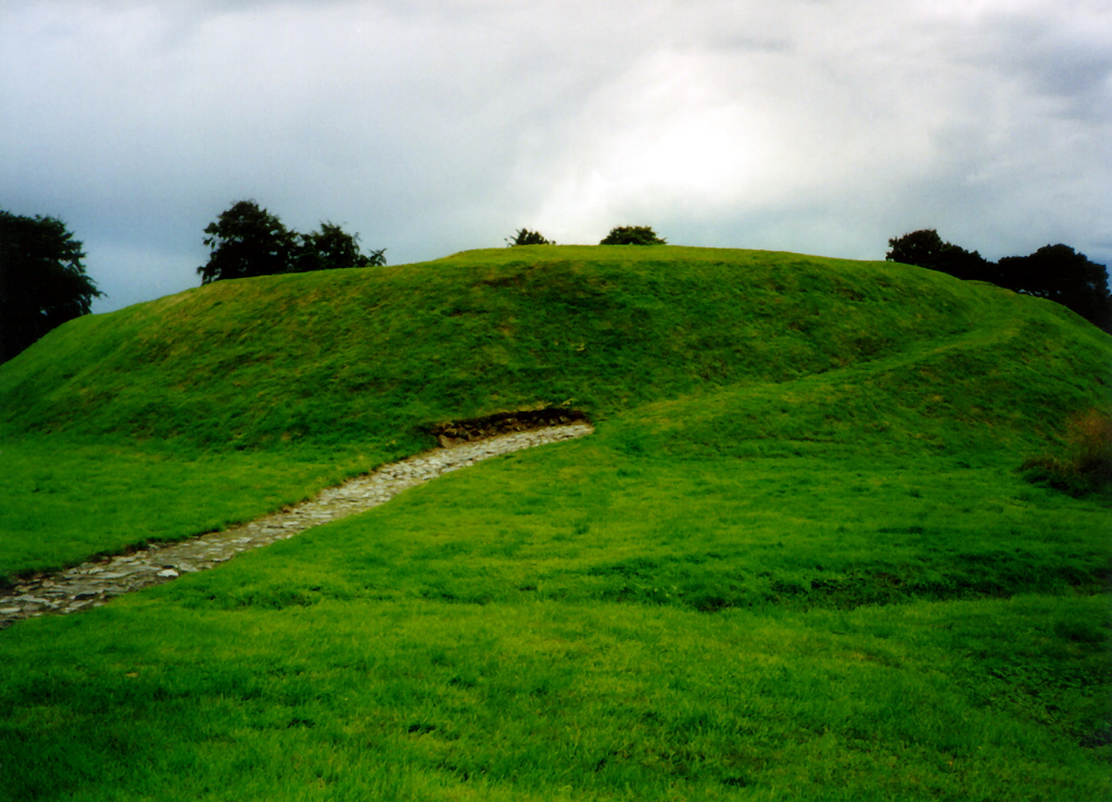 Peel Ring of Lumphanan, the earthworks of a medieval castle, formerly with a wet moat, in a quiet location by Lumphahan, reported to be where Macbeth was slain, in Aberdeenshire in northeast Scotland.