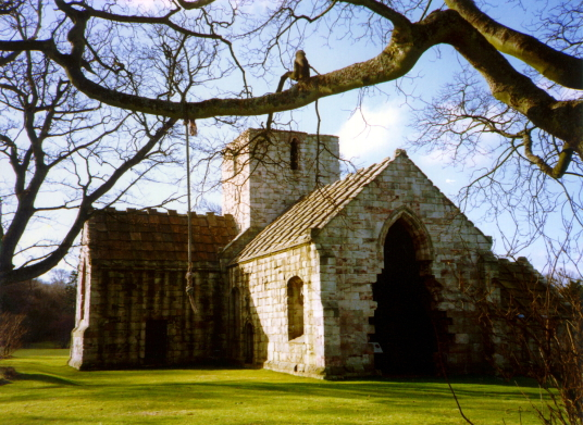 Dunglass Collegiate Church, a fine ruinous church dedicated to St Mary in a pretty spot, near to the site of Dunglass Castle and Dunglass House, a property of the Homes, Halls and Ushers, in landscaped grounds.