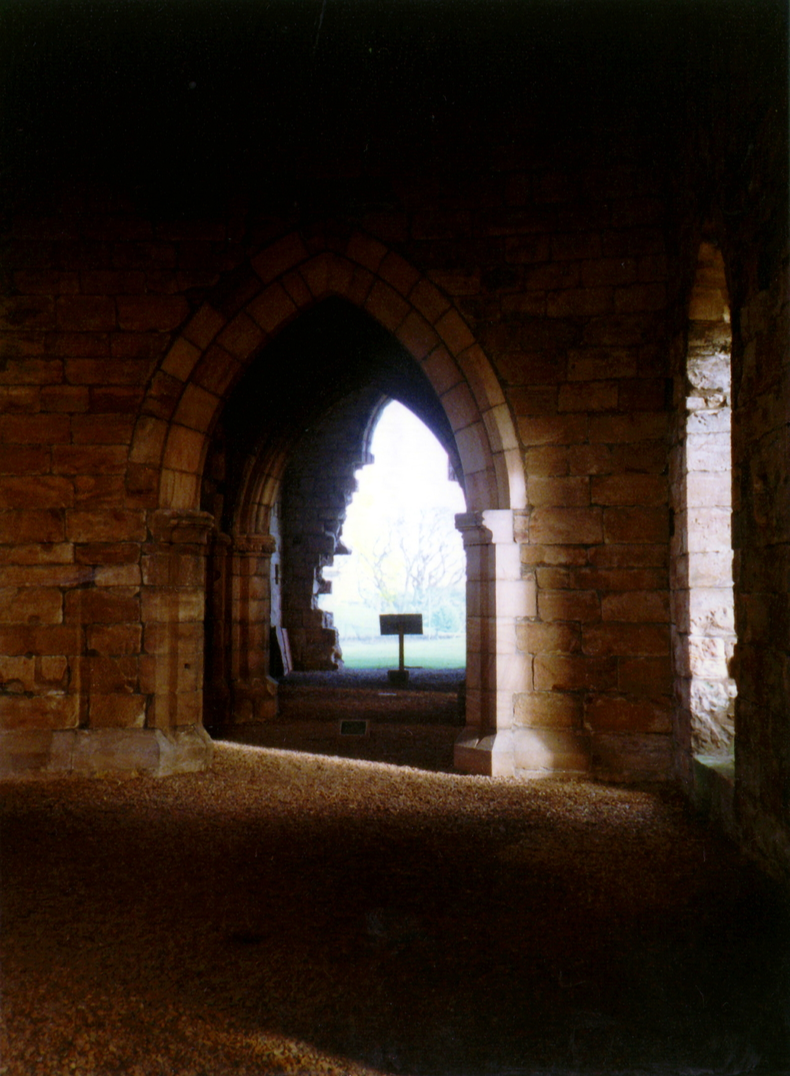 Interior of Dunglass Collegiate Church, a fine ruinous church dedicated to St Mary in a pretty spot, near to the site of Dunglass Castle and Dunglass House, a property of the Homes, Halls and Ushers, in landscaped grounds.