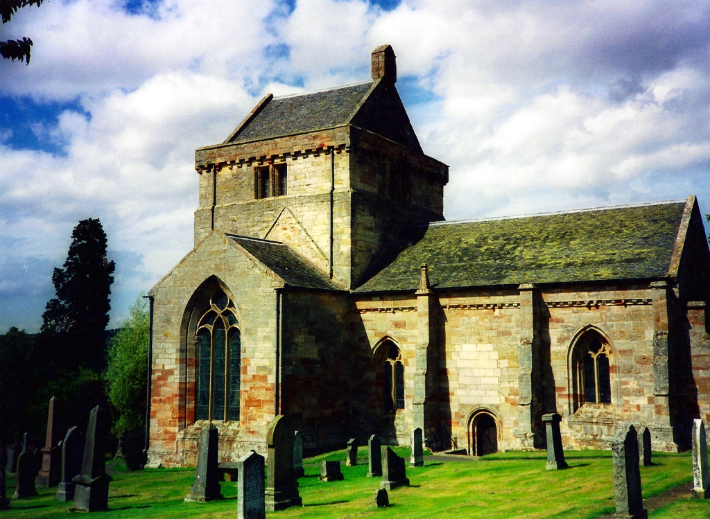 Crichton Collegiate Church, near Crichton Castle, a fabulous ruined medieval castle in a pretty spot above the River Tyne, held by the Crichtons, Hepburn and Stewart Earls of Bothwell, near to Pathhead and Edinburgh