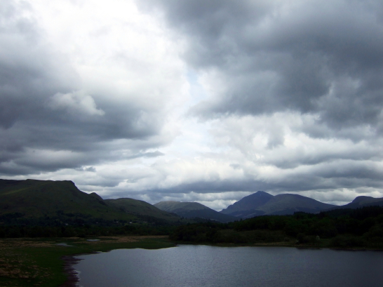 Loch Awe from Kilchurn Castle, one of the most photographed and picturesque of Scottish castles, long held by the Campbells later of Breadalbane, and located on a peninsula in Loch Awe near the village of Lochawe in Argyll.