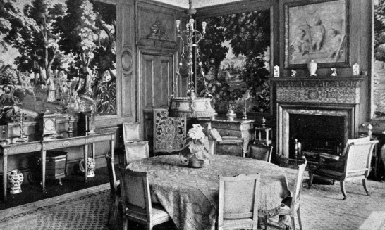 Dining Room, Lauriston Castle, an attractive old castle and mansion, held by several families including the Napiers and Reids, in fine grounds and gardens in the Davidsons Mains area of Edinburgh.