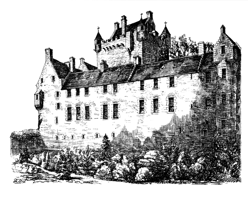 Cawdor Castle, the magnificent castle of the Campbells of Cawdor in lovely gardens and grounds near Nairn in the Highlands of Scotland.
