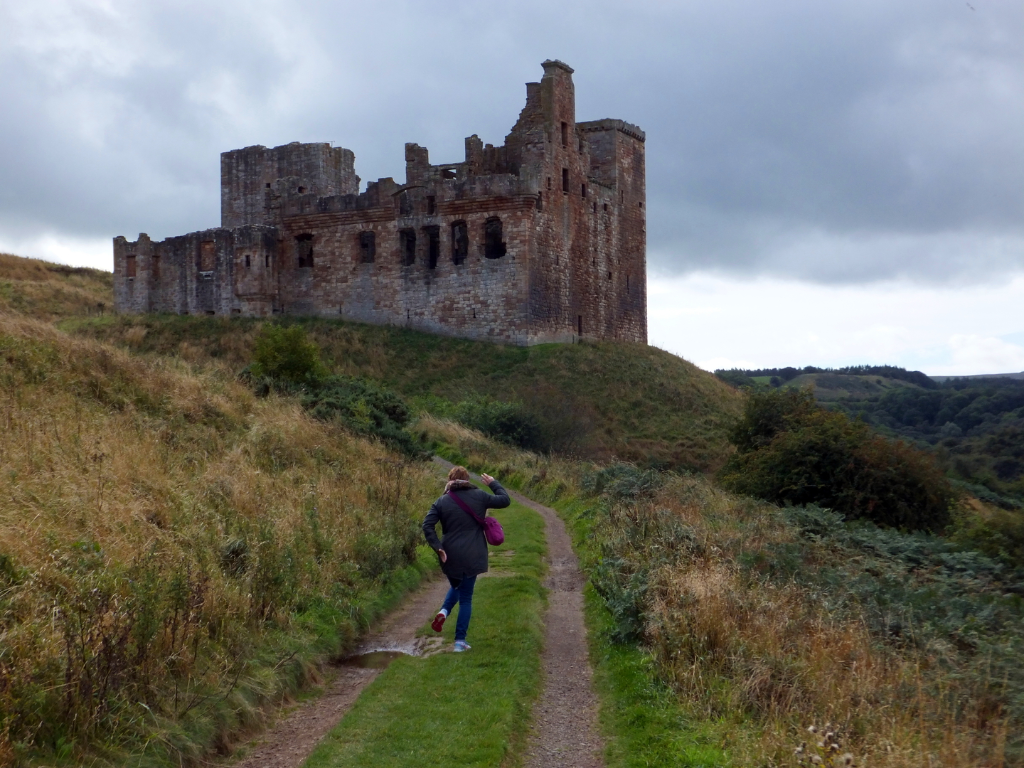 Crichton Castle, a fine old ruinous castle of the Crichtons and then the Hepburn Earls of Bothwell above the River Tyne
