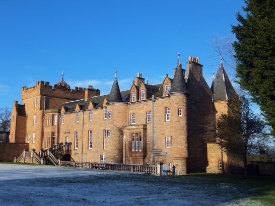 Prestongrange House, an impressive baronial mansion with old work in fine parkland grounds, held by the Kerrs, the Grants, then GrantSutties, and now the golf course of the Royal Musselburgh Golf Club (RMGC), near Prestonpans in East Lothian.