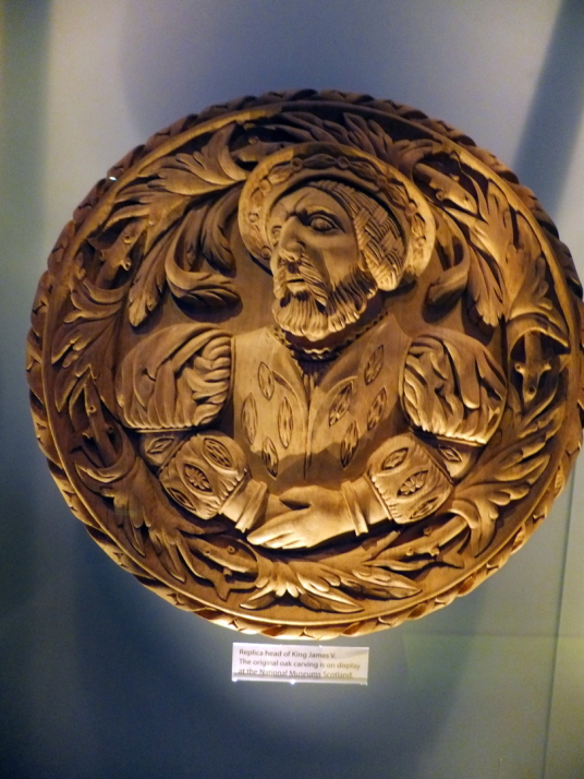 Stirling Head of James V, Stirling Castle, a magnificent royal stronghold and palace of the monarchs of Scotland, with the sumptuous palace of James V, great hall, chapel royal, king's old buildings, old kitchens and much else, above the historic burgh of