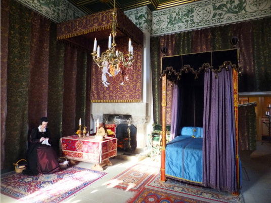 Queen's Bedchamber, palace of Stirling Castle, a magnificent royal stronghold and palace of the monarchs of Scotland, with the sumptuous palace of James V, great hall, chapel royal, king's old buildings, old kitchens and much else, above the historic burg