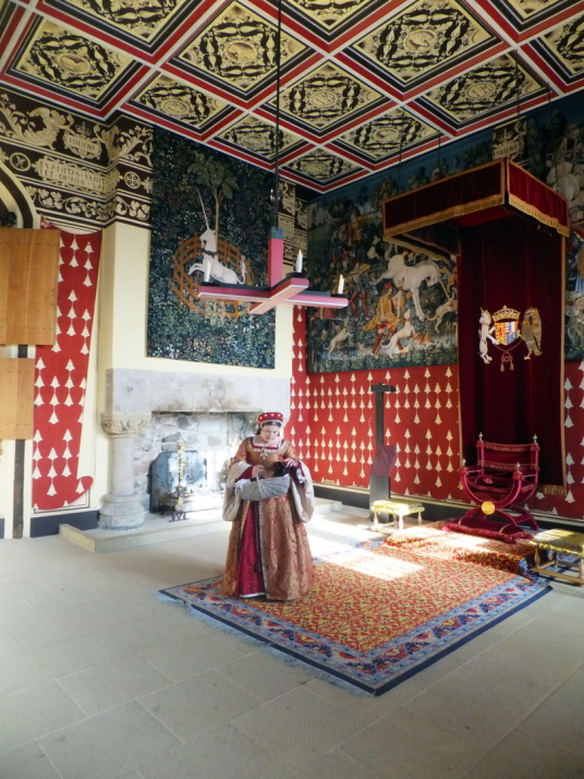 Queen's Presence Chamber, palace of Stirling Castle, a magnificent royal stronghold and palace of the monarchs of Scotland, with the sumptuous palace of James V, great hall, chapel royal, king's old buildings, old kitchens and much else, above the histori