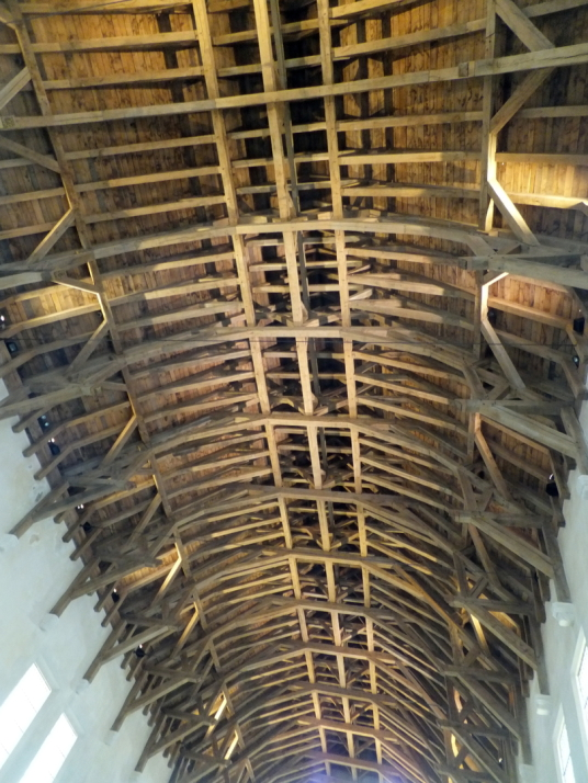 Ceiling, Great Hall of Stirling Castle, a magnificent royal stronghold and palace of the monarchs of Scotland, with the sumptuous palace of James V, great hall, chapel royal, king's old buildings, old kitchens and much else, above the historic burgh of St