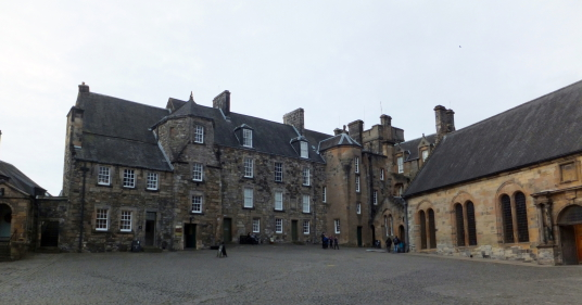 King's Old Building and Chapel Royal of Stirling Castle, a magnificent royal stronghold and palace of the monarchs of Scotland, with the sumptuous palace of James V, great hall, chapel royal, king's old buildings, old kitchens and much else, above the his