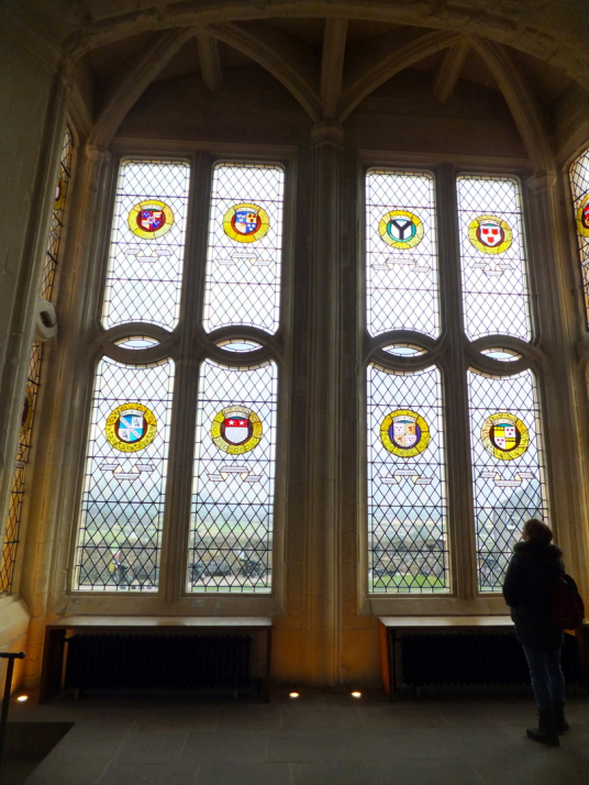 Window of the Great Hall of Stirling Castle, a magnificent royal stronghold and palace of the monarchs of Scotland, with the sumptuous palace of James V, great hall, chapel royal, king's old buildings, old kitchens and much else, above the historic burgh