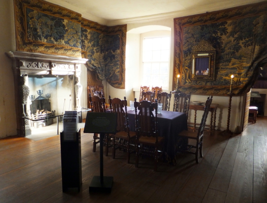 Drawing Room, Argyll's Lodging, an impressive and atmospheric old town house, decorated and furnished as it would have been in the 17th century and owned at one time by the Campbells of Argyll, on Castle Wynd on the road up to Stirling Castle in the histo