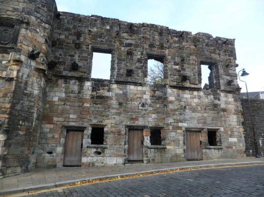 Mar's Wark, ruinous but decorated with much carved stonework, is the town house of the Erskine Earls of Mar, on Castle Wynd on the way up to Stirling Castle in the historic burgh.