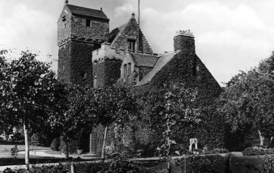 Darnick Tower is an atmospheric and attractive old tower house, long a property of the Heiton family, near Melrose in the Borders.