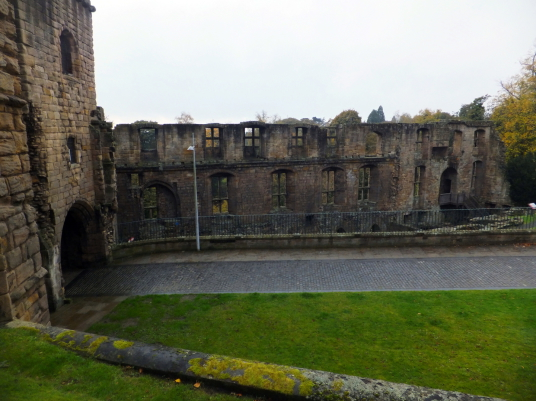 Dunfermline Palace and Abbey (remains of royal palace) consists of the now ruinous royal palace and domestic buildings of the adjacent abbey, as well as the impressive church nave, in the heritage quarter of the burgh of Dunfermline in Fife