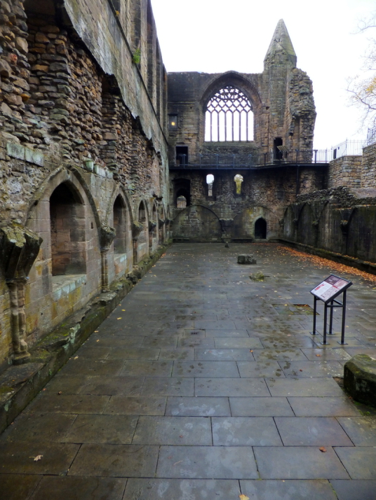 Dunfermline Palace and Abbey (remains of refectory) consists of the now ruinous royal palace and domestic buildings of the adjacent abbey, as well as the impressive church nave, in the heritage quarter of the burgh of Dunfermline in Fife