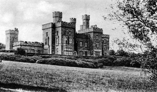 Lews Castle, a large baronial mansion dating from the middle of the 19th century and built by the Mathesons then held by Lord Leverhulme, set in lovely landscaped grounds above Stornoway in Lewis in the Outer Hebrides on the western seaboard of Scotland.