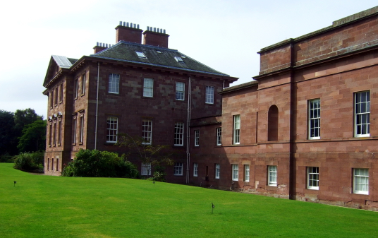 Regency Picture Gallery, Paxton House, a fine Adam mansion, built for the Home family, with a beautiful period interior and an extensive collection of Chippendale furniture, in lovely gardens and grounds, near Berwick upon Tweed on the Scottish side of th