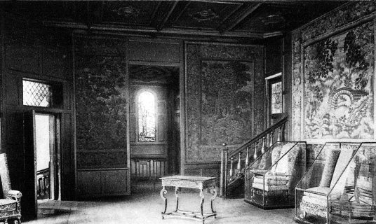 Queen Mary's Bedchamber, Palace of Holyroodhouse, a sumptuous royal residence, scene of the notorious murder of David Rizzio, secretary to Mary Queen of Scots, and still used by the present monarch Queen Elizabeth, at the foot of the famous Royal Mile in