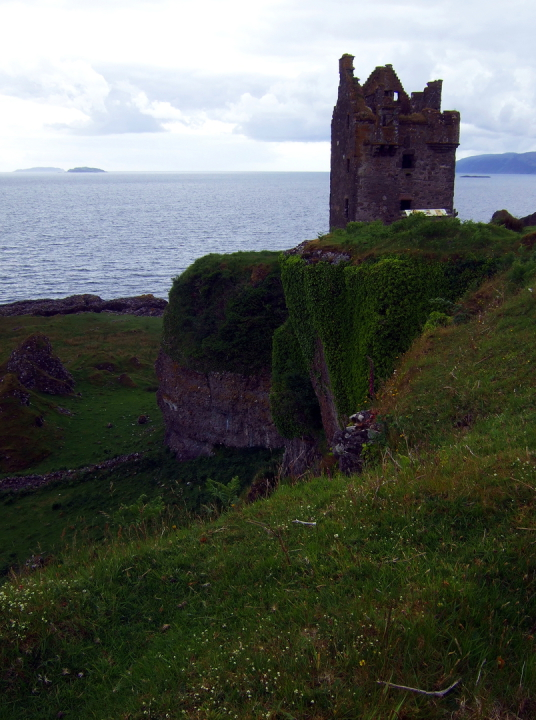 Gylen Castle, a compact but impressive tower house, built by the MacDougalls, in a beautiful spot overlooking the Firth of Lorn on the lovely island of Kerrera, near Oban in Argyll.