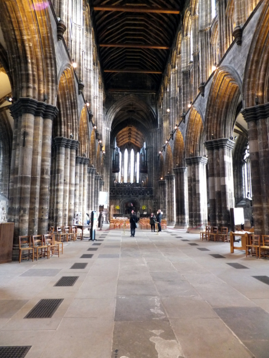 Nave of Glasgow Cathedral, new Provand's Lordship, the oldest house in Glasgow and is an atmospheric building with an interesting interior and garden, in the great city of Glasgow.