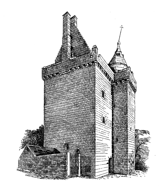 Scotstarvit Tower, a fine, well-preserved and compact tower house in a tranquil wooded setting near Hill of Tarvit and Cupar in Fife, once a property of the Scott family.