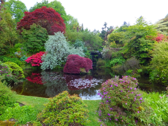 Gardens of Mount Stuart House, probably the most sumptuous mansion in Scotland with a spectacular interior including the magnificent Marble Hall and Chapel, built by the Crichton-Stuart Marquess of Bute and in lovely landscaped gardens and grounds by the
