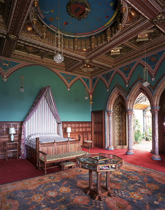 Zodiac room of Mount Stuart House, probably the most sumptuous mansion in Scotland with a spectacular interior including the magnificent Marble Hall and Chapel, built by the Crichton-Stuart Marquess of Bute and in lovely landscaped gardens and grounds by