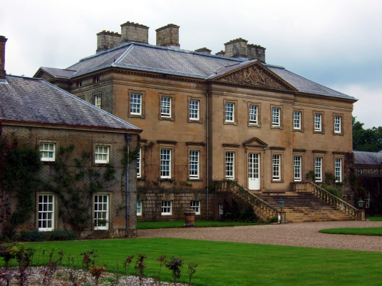 Dumfries House is a magnificent and well-preserved Adam mansion with a sumptuous interior in landscaped grounds, held by the Crichton-Stuart Earls of Dumfries and Marquesses of Bute and some miles from Cumnock in Ayrshire in southwest Scotland.