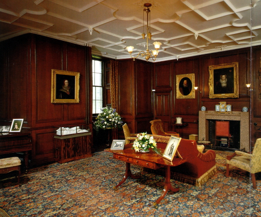 Panelled Room, Thirlestane Castle, a fabulous old castle and mansion with many sumptuous chambers, long held by the powerful Maitlands of Lauderdale, and in lovely gardens and grounds near Lauder in the Borders in southern Scotland.