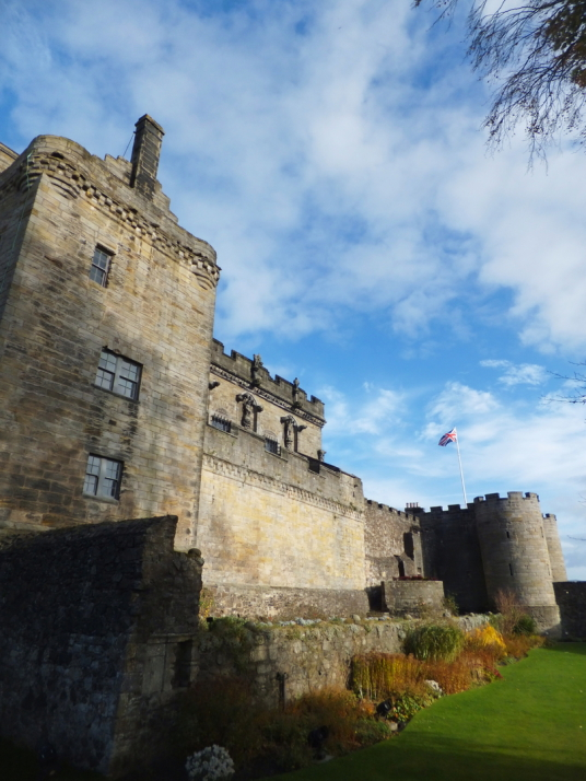 Gatehouse and palace of Stirling Castle, a magnificent royal stronghold and palace of the monarchs of Scotland, with the sumptuous palace of James V, great hall, chapel royal, king's old buildings, old kitchens and much else, above the historic burgh of S