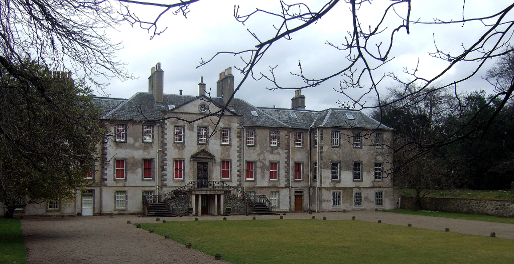 Newhailes House, an atmospheric if somewhat gloomy old mansion with a fantastic period interior, long associated with the Dalrymple family and located in landscaped parkland by the sea near Musselburgh in East Lothian in central Scotland.