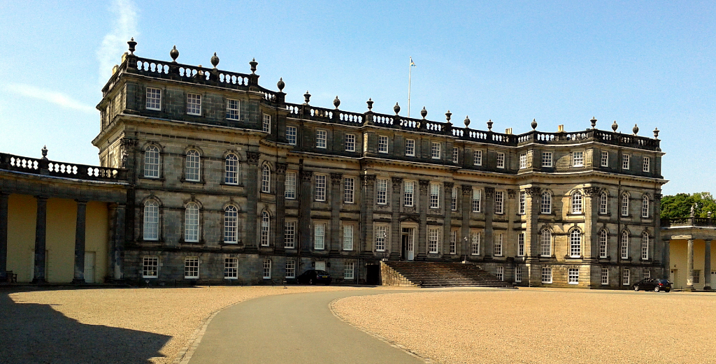 Hopetoun House, a massive and magnificent old mansion in expansive landscaped grounds by the Firth of Forth, held by the Hope Earls of Hopetoun, and near South Queensferry in West Lothian in central Scotland.