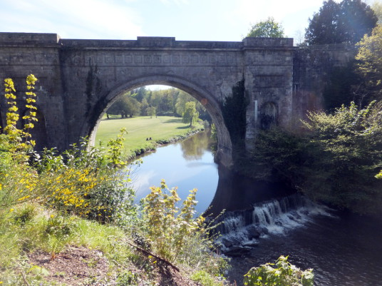 Montagu Bridge, Dalkeith Palace, the magnificent mansion, including an old castle, of the Douglases and then the Scott Dukes of Buccleuch, set in beautiful landscaped policies and now a country park with lovely walks, cafe, restaurant and shop, near the t