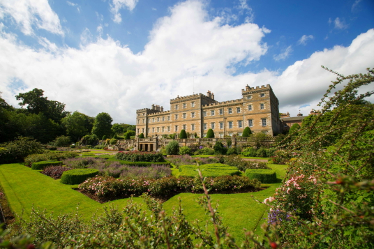 Mellerstain House, a fine castellated Adam mansion with a stunning and largely original Adam interior, set in beautiful gardens and expansive landscaped grounds.