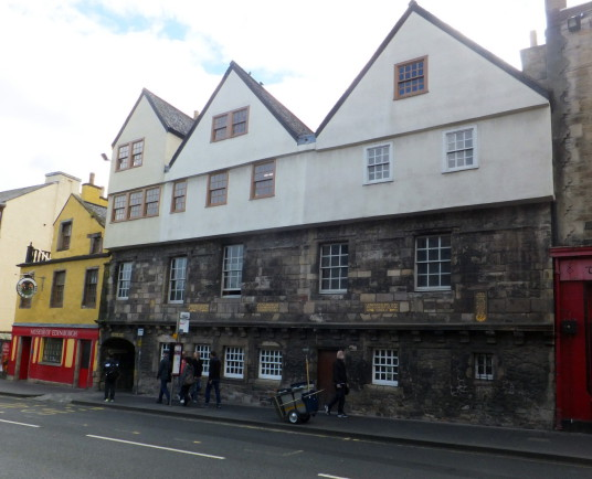 Huntly House, a fine old townhouse, named after the Gordons of Huntly and now housing the Museum of Edinburgh, on the Canongate on the Royal Mile of Edinburgh, Scotland's capital city.