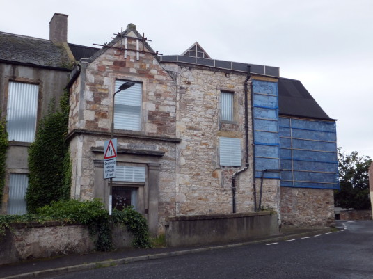 Harlawhill House is an old and derelict house, once held by the Hamiltons and then by the Fowlers, in Prestonpans in East Lothian in southeast Scotland.