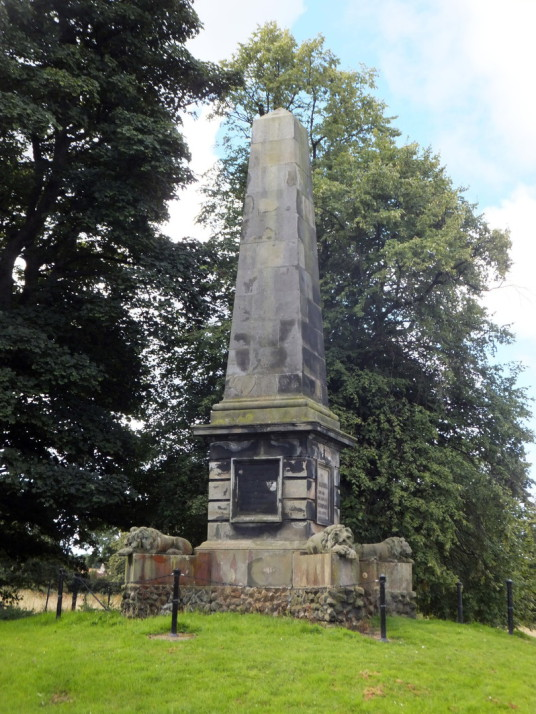 Colonel Gardiner's Monument, by Bankton House is a restored old house dating from around 1700, built by the Hamiltons and owned by Colonel Gardiner, who was killed at the Battle of Prestonpans, with an audiovisual presentation in the doocot, near Tranent