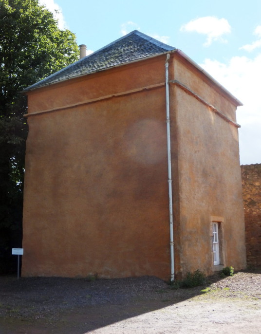 Doocot (dovecote), Bankton House is a restored old house dating from around 1700, built by the Hamiltons and owned by Colonel Gardiner, who was killed at the Battle of Prestonpans, with an audiovisual presentation in the doocot, near Tranent in East Lothi