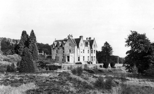 Glengarry House Hotel, near Invergarry Castle, an impressive and picturesque ruinous old tower of the MacDonnells (MacDonalds) of Clan Ranald in a pretty spot on Loch Oich and in the grounds of the Glengarry Castle Hotel, near Fort Augustus in the Highlan