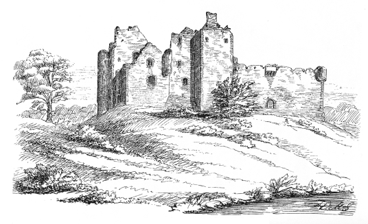 Doune Castle, a magnificent medieval castle in a pretty spot by the River Teith, built by Robert Stewart, Duke of Albany, near Doune in Stirlingshire.