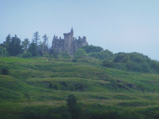 Glengorm Castle, an impressive baronial mansion in a lovely wooded spot, to the north of Tobermory on the island of Mull.