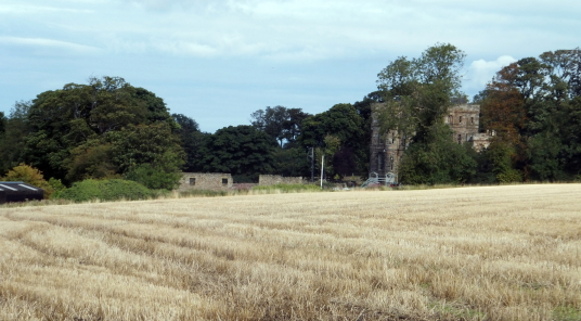 Site of Seton village, near Seton Castle, a large and impressive Adam mansion near the atmospheric Seton Collegiate Church built by the Seton family, near Tranent and Cockenzie and Port Seton in East Lothian.