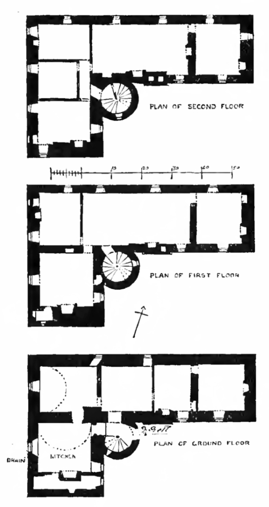 Plans of Peffermill House, a fine old building, standing in acres of parkland to the south of Edinburgh, and owned by the Edgars, Alexanders, Osbornes and then by the Gilmours, and still a private residence,