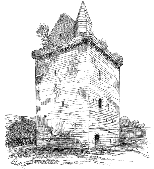 Sauchie Tower, an old tower house of the Bruce family near Alloa in Clackmannanshire in central Scotland.
