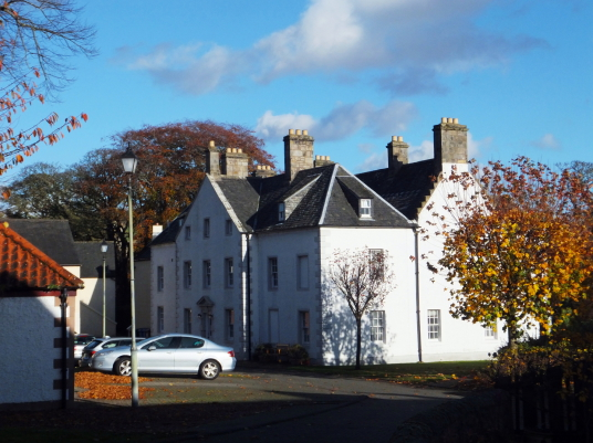 Aberdour House (Cuttlehill), by Aberdour Castle, a scenic old stronghold castle with gardens and orchard of the Douglas Earls of Morton, in the pretty village of Aberdour in Fife.
