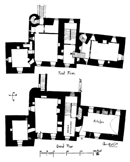 Plans of Huntingtower Castle is a handsome and atmospheric old castle and mansion near Perth in central Scotland, once home to the Ruthven Earls of Gowrie, but the earl and his brother were slain by James VI and the castle and earldom seized, eventually g