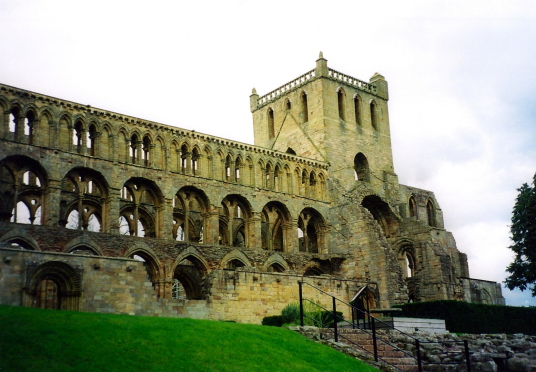 Jedburgh Abbey, Mary Queen of Scots House or Visitor Centre or Queen Mary's House, a picturesque old tower house in the historic town of Jedburgh in the Borders, held by the Scotts and associated with, and now housing a museum about, Mary Queen of Scots.