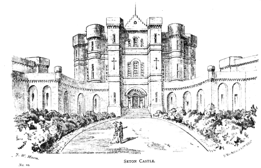 Seton Castle, a large and impressive Adam mansion near the atmospheric Seton Collegiate Church built by the Seton family, near Tranent and Cockenzie and Port Seton in East Lothian.